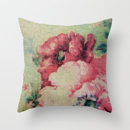Tapestry - Original Art - Mixed Media Throw Pillow