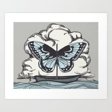 Butterfly Boat - We Are Not Troubled Guests Art Print