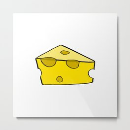 CHEESE FOR SMILE Metal Print