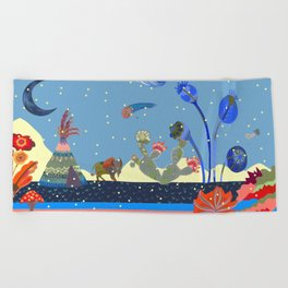At night Beach Towel