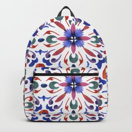 Floral ornament. Watercolor Backpack