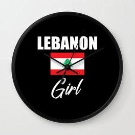 Lebanon Girl Wall Clock