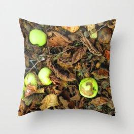 Wild Green Apples Throw Pillow