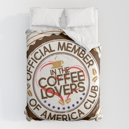 Coffee Lovers of America Club by Jeronimo Rubio 2016 Comforters