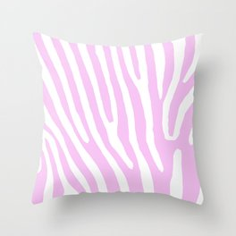 Pink Zebra Throw Pillow
