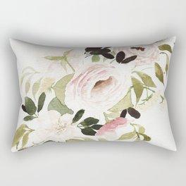 Romantic Loose Rose Bouquet Rectangular Pillow