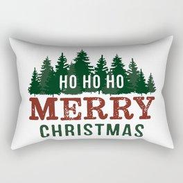 Ho Ho Ho Merry Christmas Rectangular Pillow