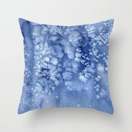 Frosty watercolor Throw Pillow