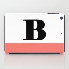 Monogram Letter B-Pantone-Peach Echo iPad Case
