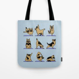 German Shepherd Yoga Tote Bag