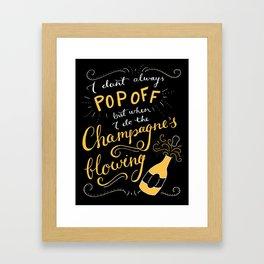 Champagne Wishes Framed Art Print