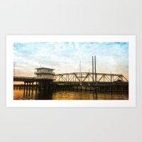 Swing Bridge- Color Art Print