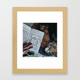 Witchcraft - Magical circle of Hell Framed Art Print