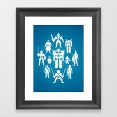 Plastic Heroes Framed Art Print