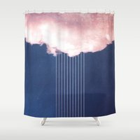 rain Shower Curtains featuring Rain by SUBLIMENATION