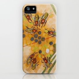 Beetles and bees iPhone Case