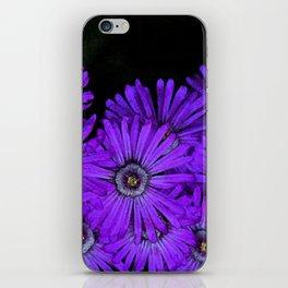 Purple succulent flowers watercolor effect iPhone Skin