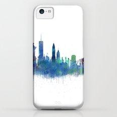 NY New York City Skyline NYC Watercolor art iPhone 5c Slim Case