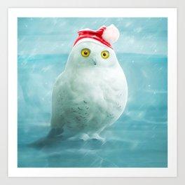 Snowball goes Xmas Art Print