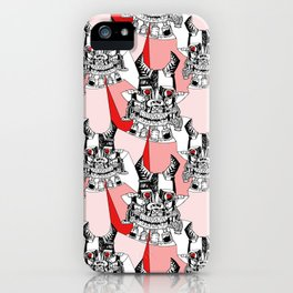 Red Ruby Robot Head iPhone Case