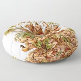 The Pinecone and the Rainforest Floor Pillow