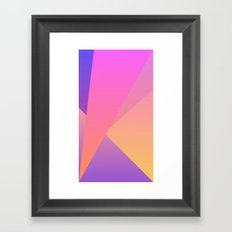 Diamond Fractals Framed Art Print