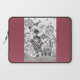Mr. Hat goes to the Park Laptop Sleeve