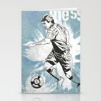 messi Stationery Cards featuring Lionel Messi by Renato Cunha
