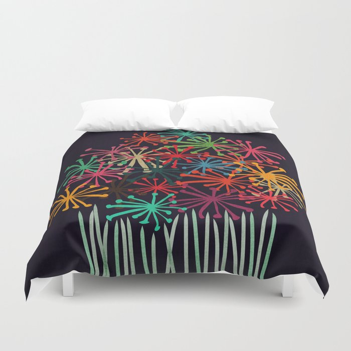 Flower Bouquet Duvet Cover