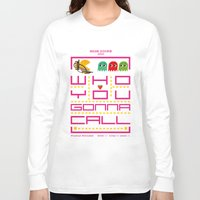 pacman Long Sleeve T-shirts featuring pacman ghostbuster by danvinci