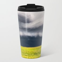 Passing By - Storm and Lone Tree in Nebraska Travel Mug