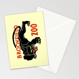 Black panther Brookfield Zoo ad Stationery Cards
