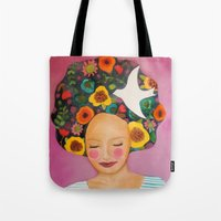 florence Tote Bags featuring florence by sylvie demers