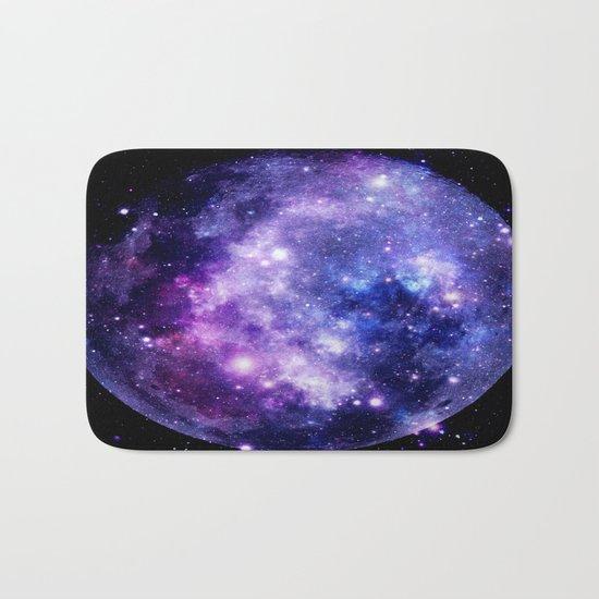 Galaxy Planet Purple Blue Space Bath Mat