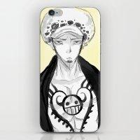 law iPhone & iPod Skins featuring Trafalgar Law by Nada Baker