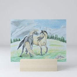 Sandstorm Elegance Mini Art Print