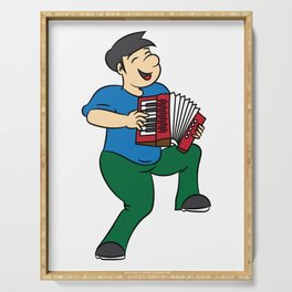 Accordion Accordionist T Shirt Gift Playing Accordion Serving Tray