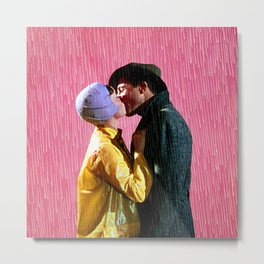 Singin' in the Rain - Pink Metal Print