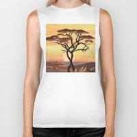 africa Biker Tanks featuring Africa by ArT RefugiuM