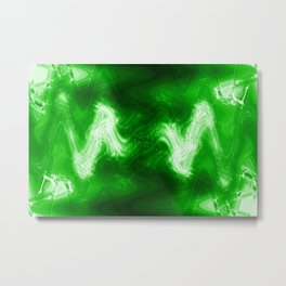 green color abstract Metal Print