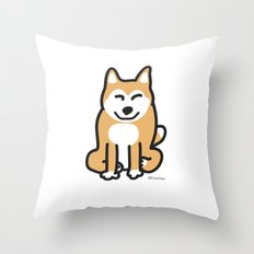 Cute Shiba Throw Pillow