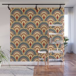 Egyptian Motif Fish Scales Seamless Pattern Wall Mural