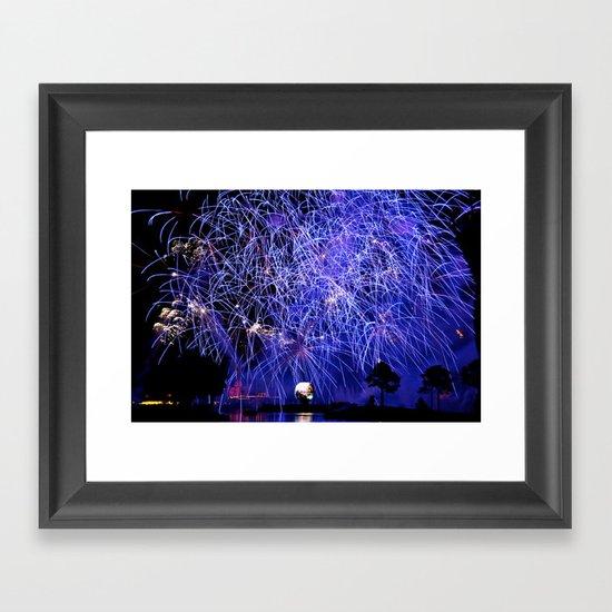 Illuminations Fireworks Framed Art Print