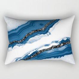 Agate Glitter Glam #14 #gem #decor #art #society6 Rectangular Pillow