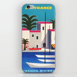 Vintage poster - French Riviera iPhone Skin