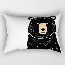 Friendly Black Bear Rectangular Pillow