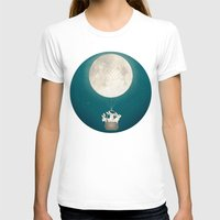 bunnies T-shirts featuring moon bunnies by Laura Graves