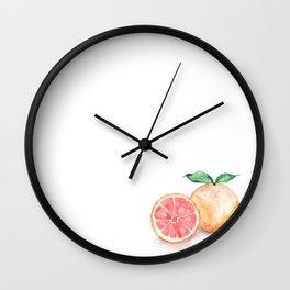 Watercolour Grapefruit Wall Clock