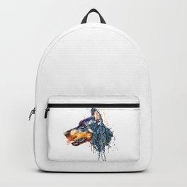 Doberman Head Backpack