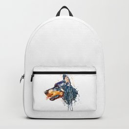 Doberman Head Backpack